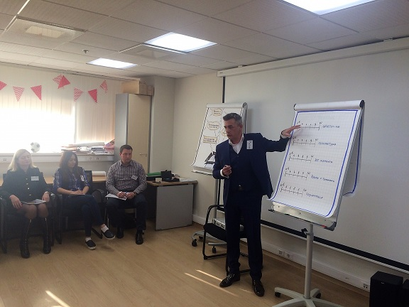 Ведущий тренинга бизнес-тренер Рустам Серебряков